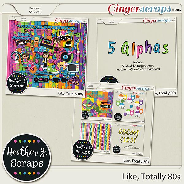 Like Totally 80s BUNDLE by Heather Z Scraps