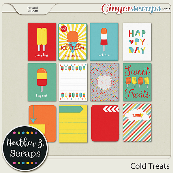 Cold Treats JOURNAL CARDS by Heather Z Scraps