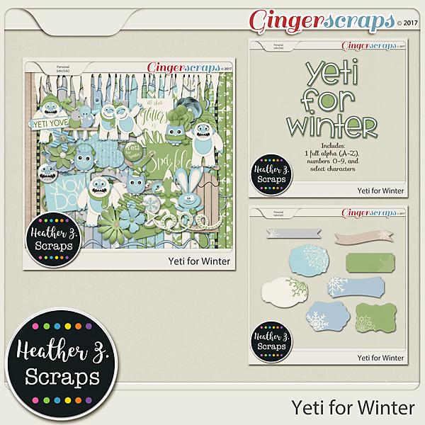 Yeti for Winter BUNDLE by Heather Z Scraps