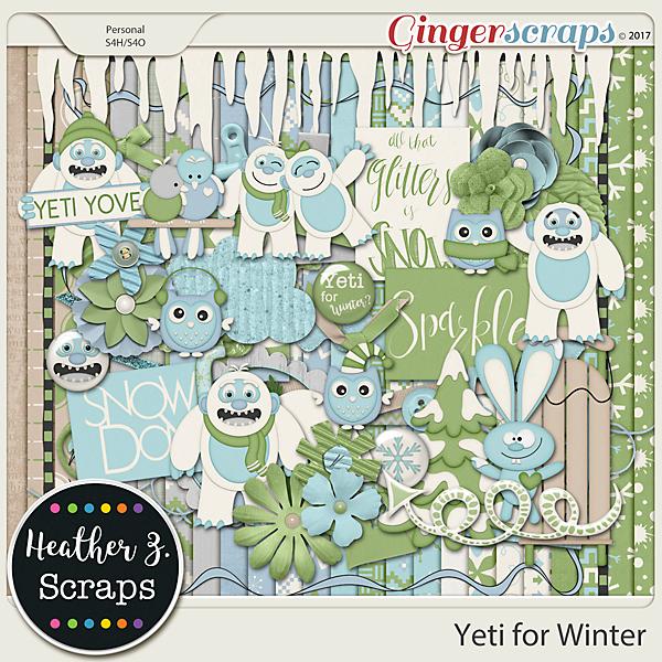 Yeti for Winter KIT by Heather Z Scraps