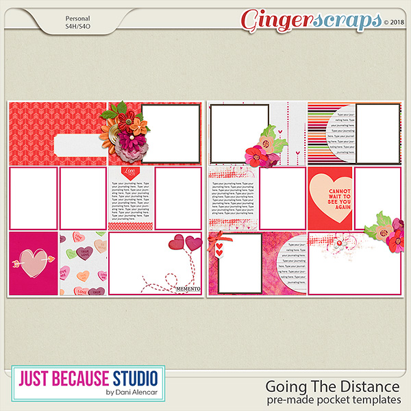 Going The Distance Pocket Templates by JB Studio