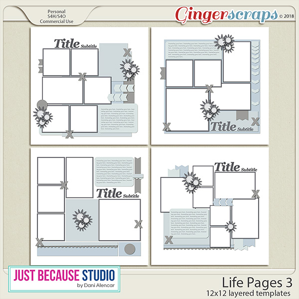 Life Pages 3 Templates by JB Studio