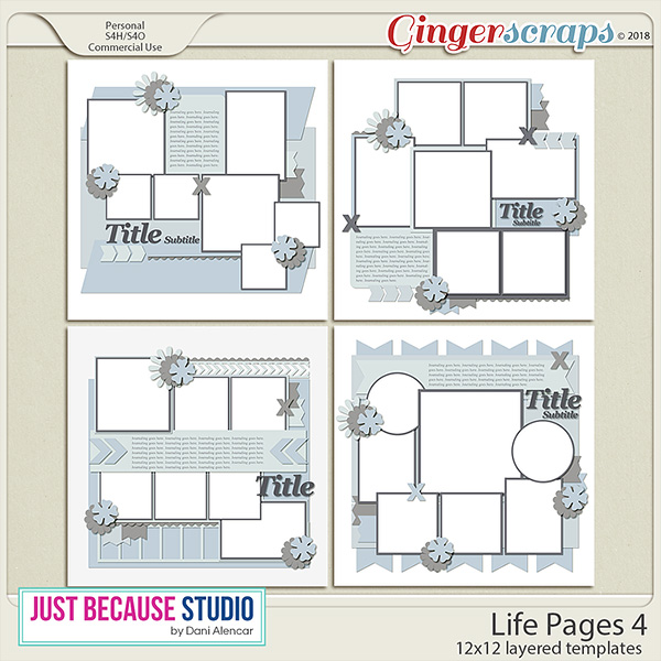Life Pages 4 Templates by JB Studio