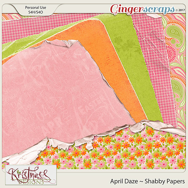 April Daze Shabby Papers
