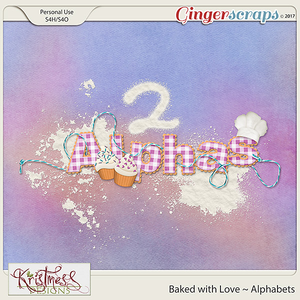 Baked with Love Alphabets
