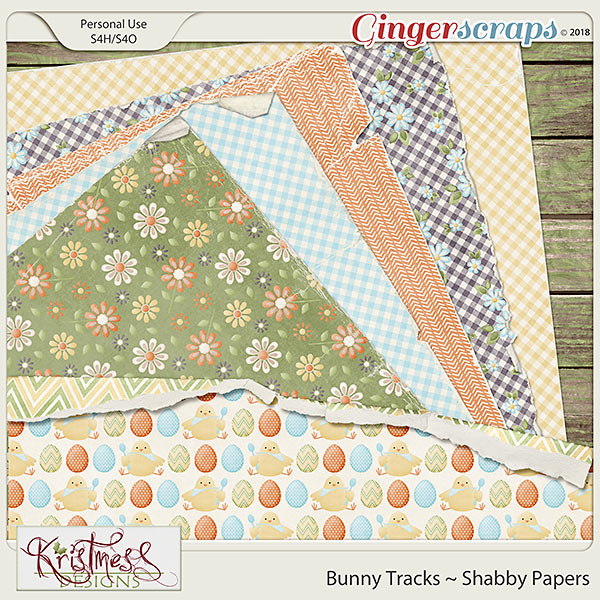 Bunny Tracks Shabby Papers