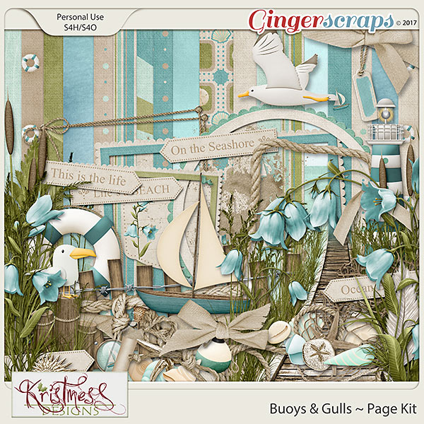 Buoys & Gulls Page Kit