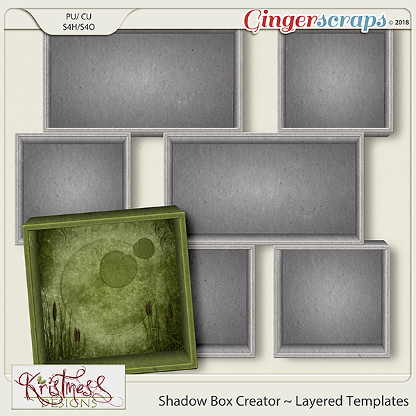 CU Shadow Box Creator Layered Templates