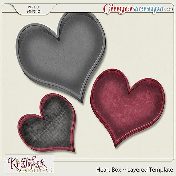 CU Heart Box Layered Template