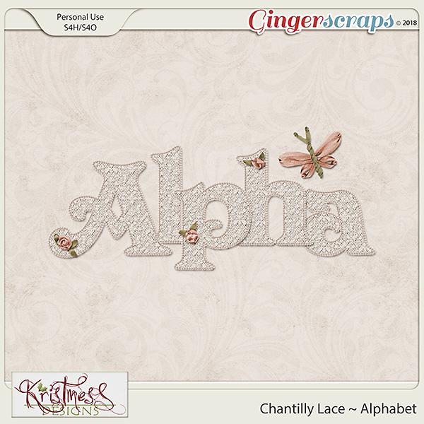 Chantilly Lace Alphabet