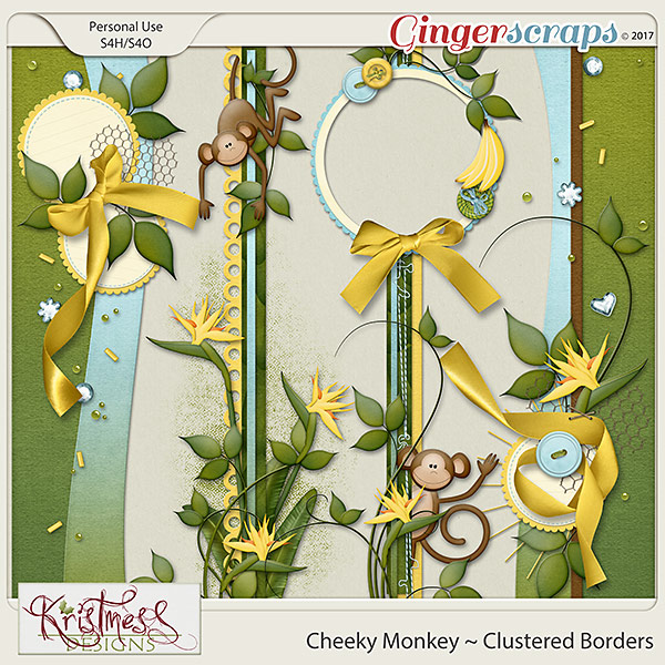 Cheeky Monkey Clustered Borders