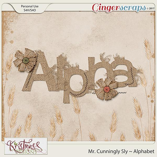 Mr. Cunningly Sly Alphabet