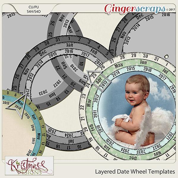CU Layered Date Wheel Templates