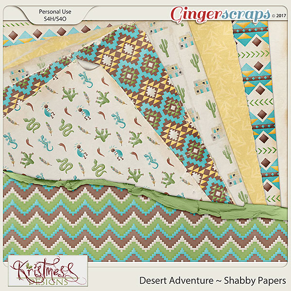 Desert Adventure Shabby Papers