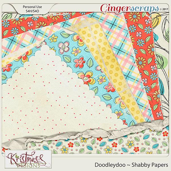 Doodleydoo Shabby Papers
