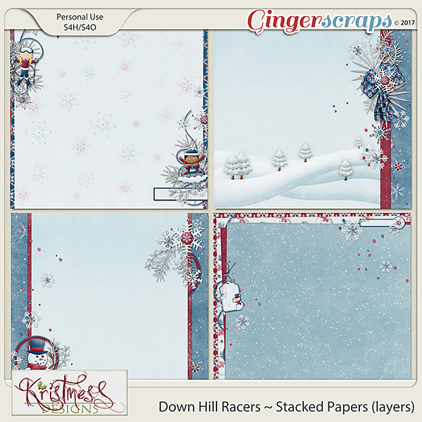 Down Hill Racers Stacked Papers (layers)