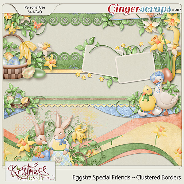 Eggstra Special Friends Clustered Borders