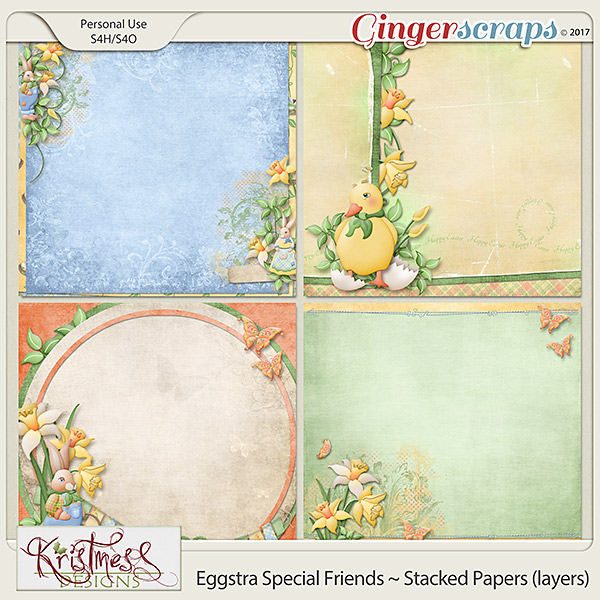 Eggstra Special Friends Stacked Papers (layers)
