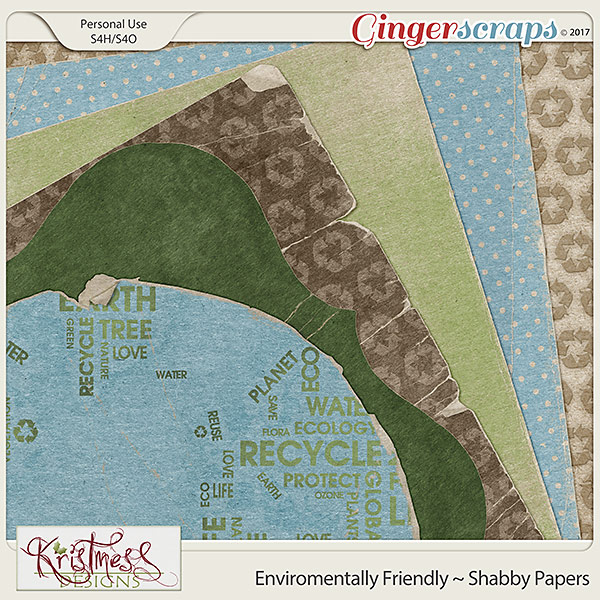 Environmentally Friendly Shabby Papers
