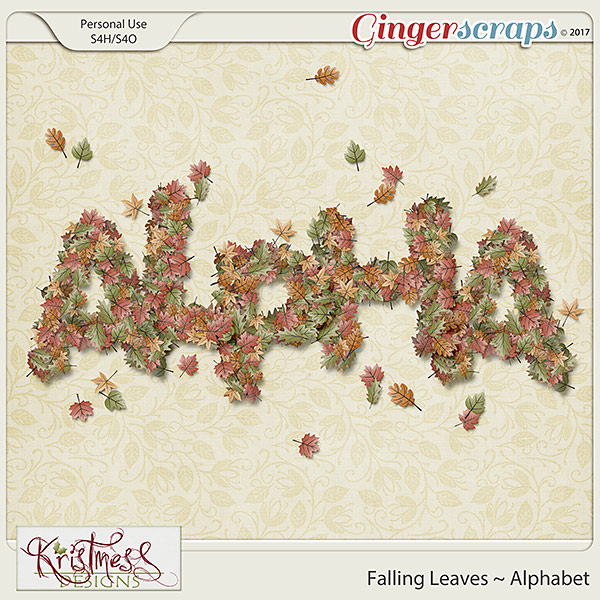 Falling Leaves Alphabet