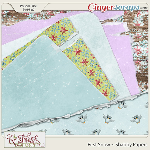 First Snow Shabby Papers