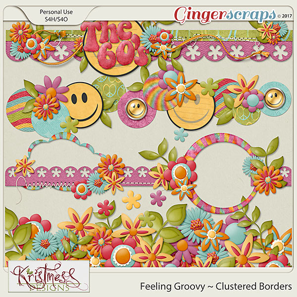 Feeling Groovy Clustered Borders