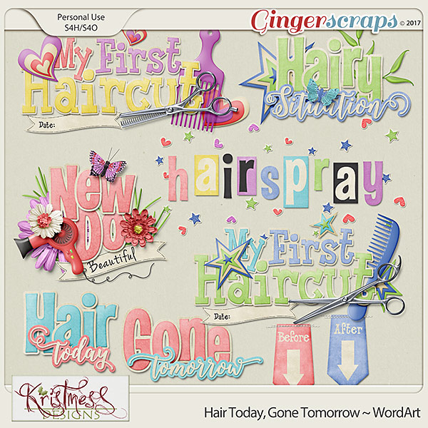 Hair Today, Gone Tomorrow ~ WordArt