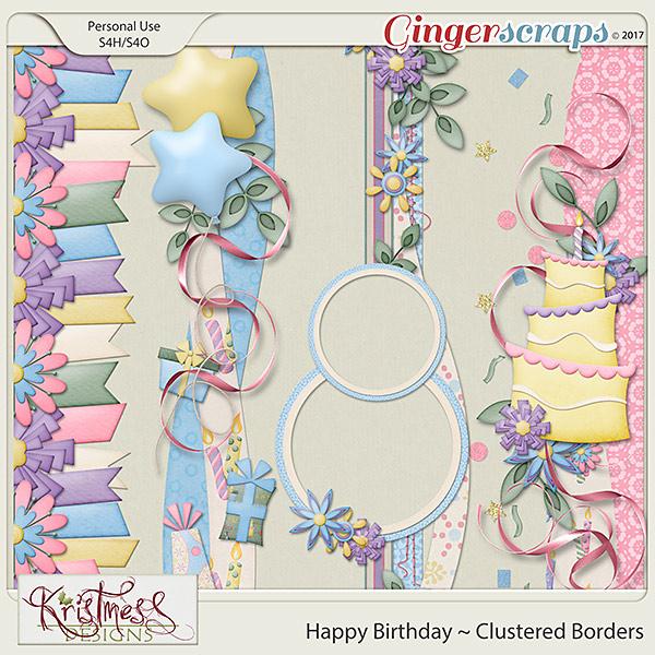 Happy Birthday Clustered Borders