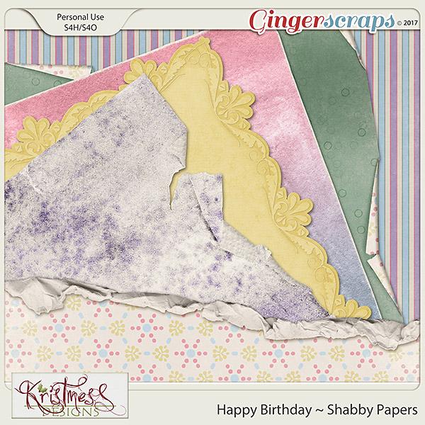 Happy Birthday Shabby Papers