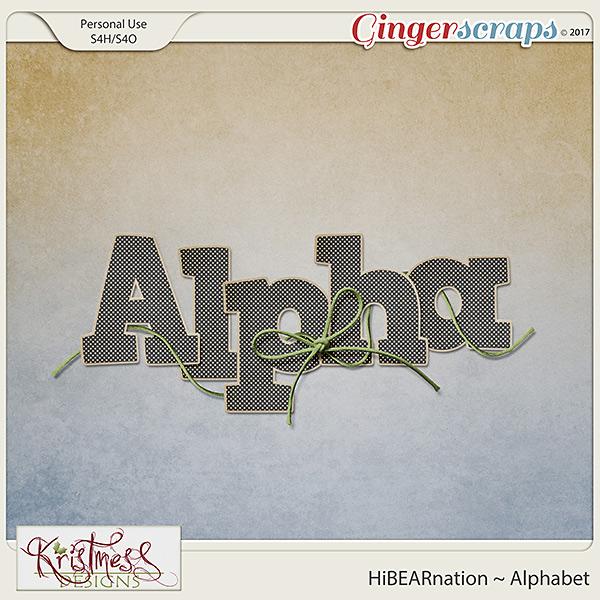 HiBEARnation Alphabet