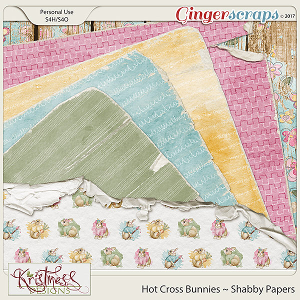 Hot Cross Bunnies Shabby Papers