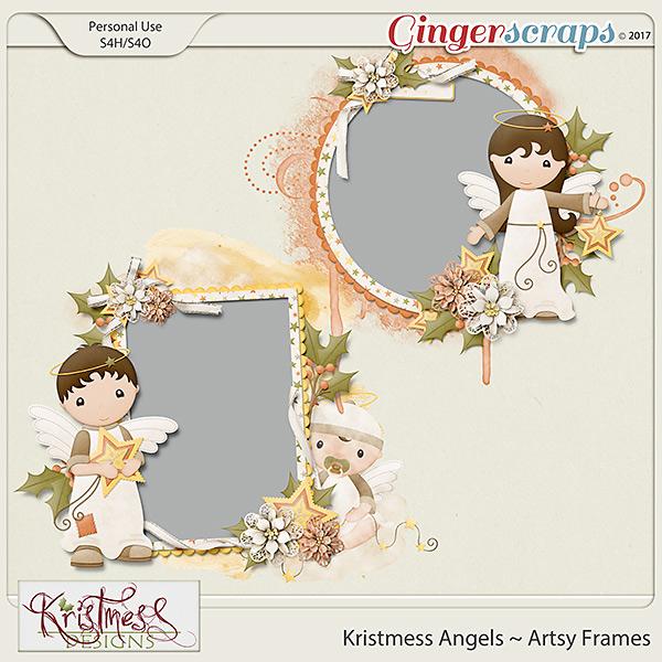 Kristmess Angels Artsy Frames