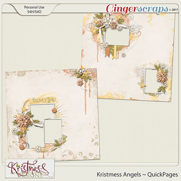 Kristmess Angels QuickPages Set 1