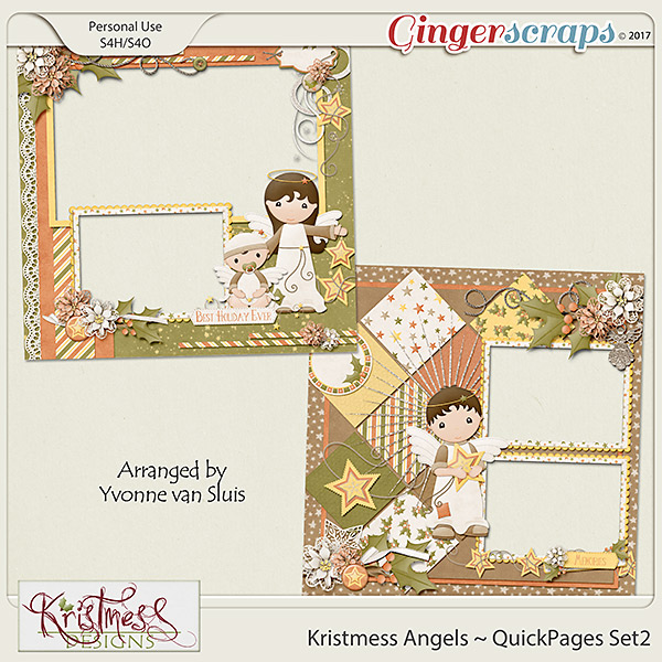 Kristmess Angels QuickPages Set 2