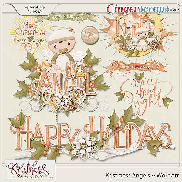 Kristmess Angels WordArt