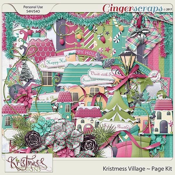 Kristmess Village Page Kit