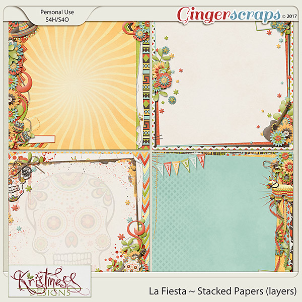 La Fiesta Stacked Papers (layers)
