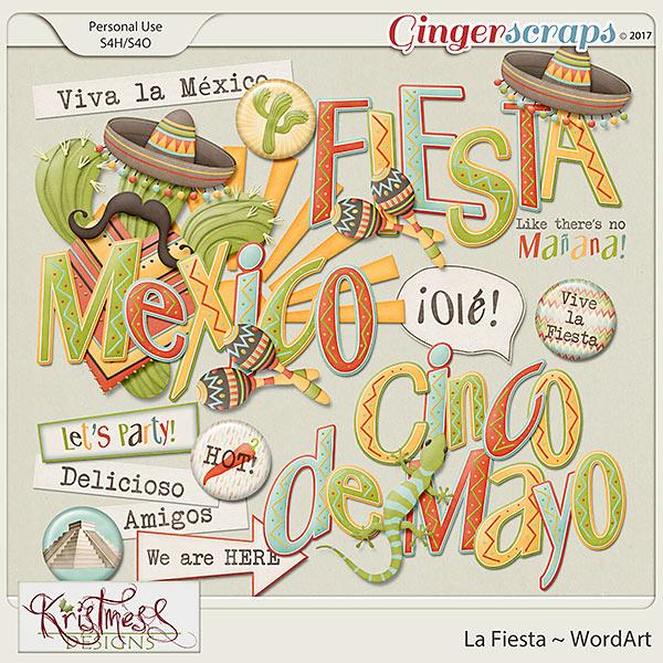 La Fiesta WordArt
