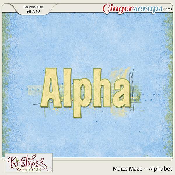 Maize Maze Alphabet