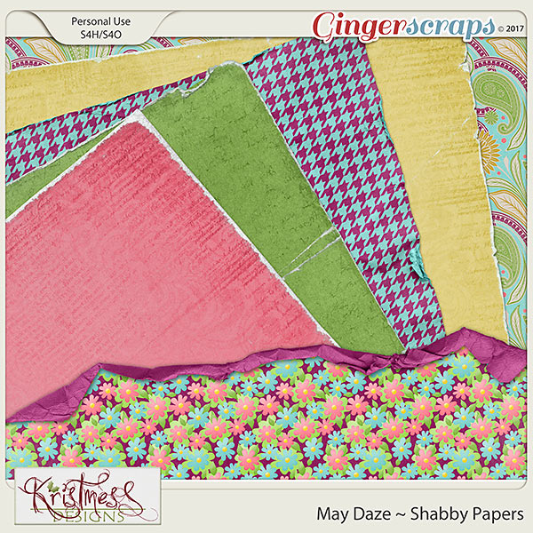 May Daze Shabby Papers