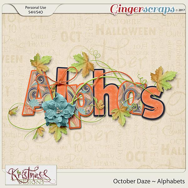 October Daze Alphabets