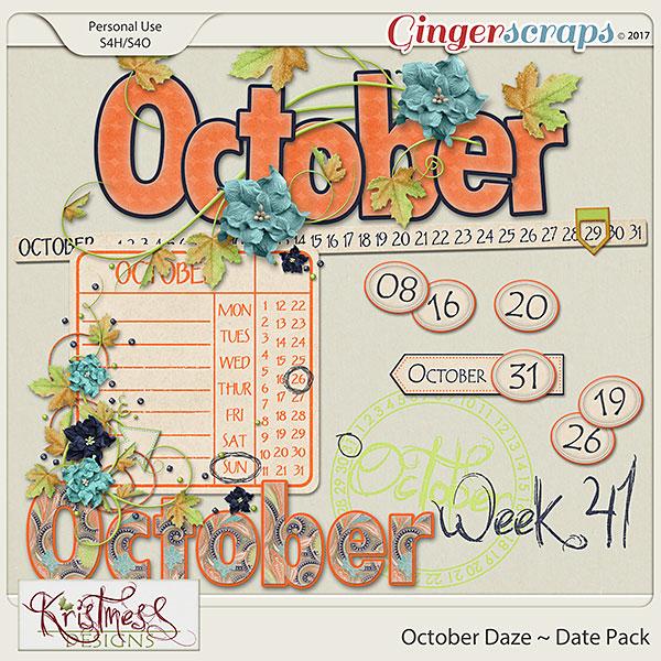 October Daze Date Pack