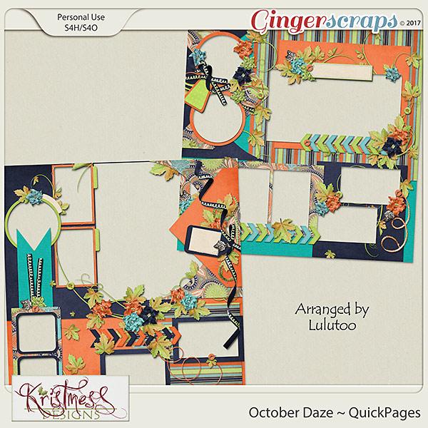 October Daze QuickPages