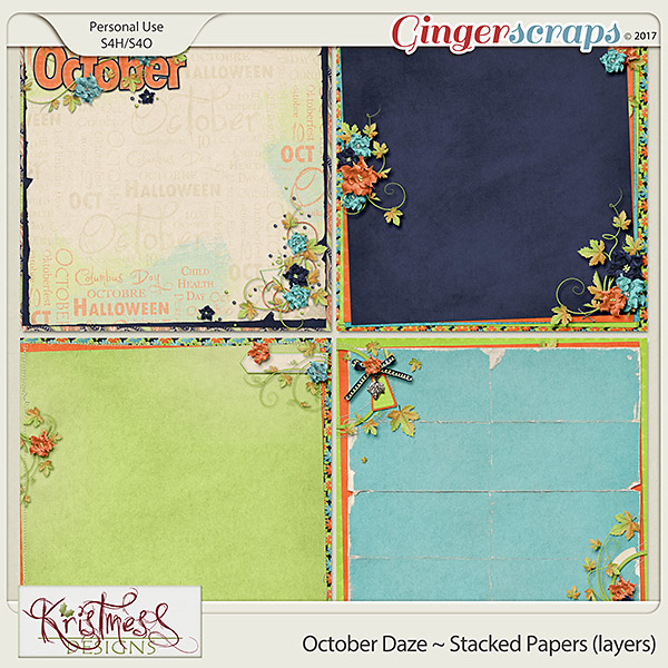 October Daze Stacked Papers (layers)
