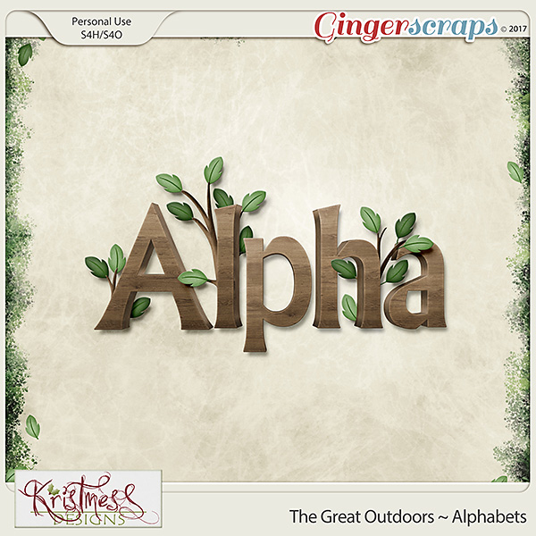The Great Outdoors Alphabets