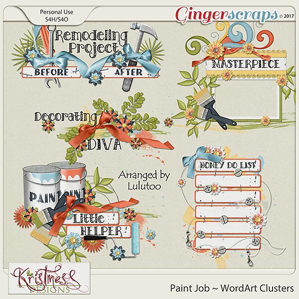 Paint Job WordArt Clusters