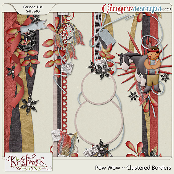 Pow Wow Clustered Borders