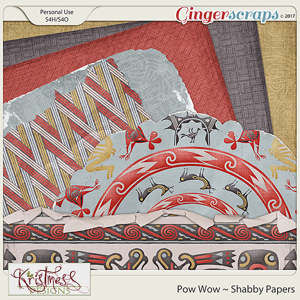 Pow Wow Shabby Papers