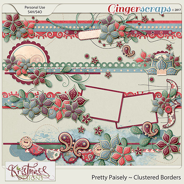 Pretty Paisley Clustered Borders