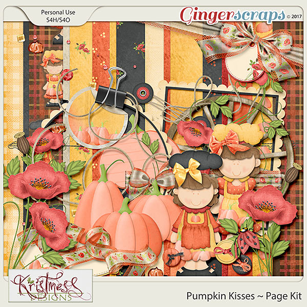 Pumpkin Kisses Page Kit
